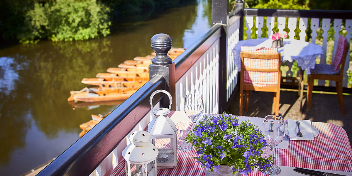 Balcony overlooking the River Avon